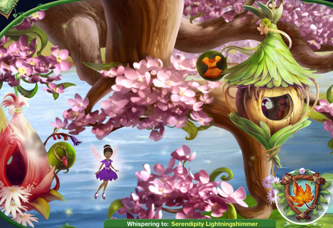 play pixie hollow online virtual world